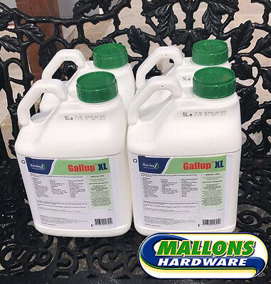 4X5L Gallup 360 Weedkiller Very Strong Professional Glyphosate WITH FREE GLOVES