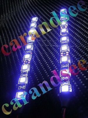 2 Bandes Auto Moto A 9 Led Smd5050 15Cm 12 Volts Blanc Tuning Exterieur
