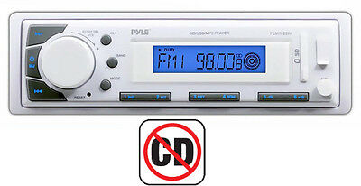 New Pyle PLMR20W In-Dash Marine iPod/MP3 SD/USB Memory Readers Receiver Player