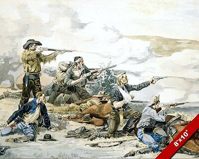 Beecher Island Battle Us Army Western Remington Oil Painting Art Print On Canvas