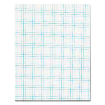 TOPS Quadrille Pads, 4 Squares/inc, 8-1/2 x 11, White, 50 Sheets/Pad