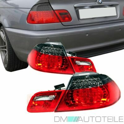 2x BMW E46 Cabrio Led Rückleuchten SET Umbau Facelift M3 Design Rot Smoke 99-03