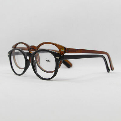 Black Brown Oval Classic Retro Spring Hinges Reading Glasses +1.00 to +4.00