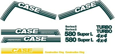 New Whole Decal Set for Case 580 Super L EXT Extendahoe Backhoe Loader 580SL