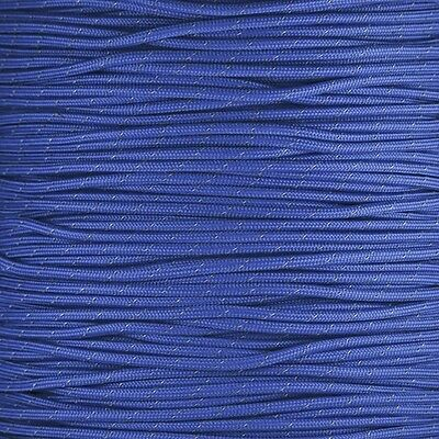Royal Reflective 550 lb Paracord Type III 7 strand cord 100 ft Woven Blue