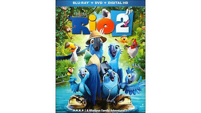 Rio 2 (Blu-ray/DVD, 2014, 2-Disc Set, Includes Digital Copy) w/slipcover SEALED