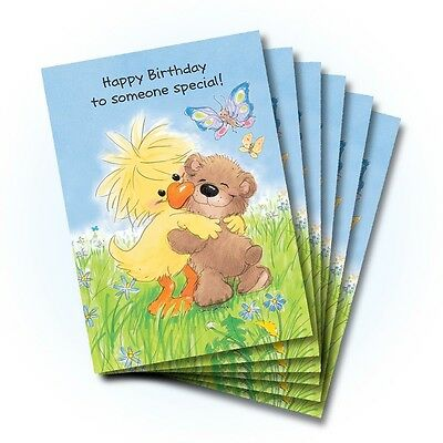 Suzy's Zoo Happy Birthday Greeting Card 6-pack 10225