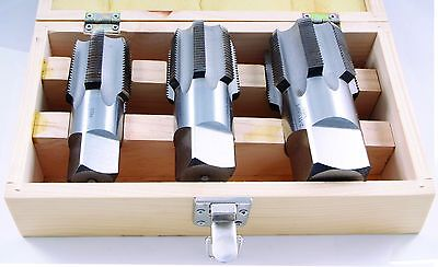3 Piece Npt Taper Pipe Tap Set (1-1/4~2 Inches) (1011-3303)