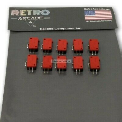 10 piece Push Button Micro Switch arcade microswitch button Zippy replacement 3T