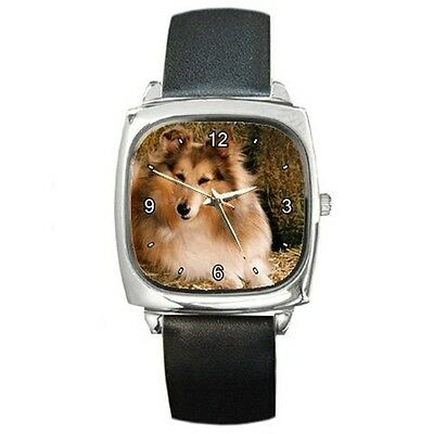 Collie Dog Breed Photo Square Wrist Watch