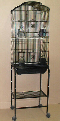 New Cockatiel Parakeet Finch Canary Bird Cage With Black Stand 6803-4813-291