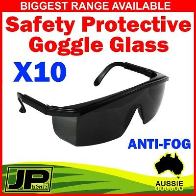 10x Safety Protective Goggles Glasses Eye Protection From Lab Dust Black Lens
