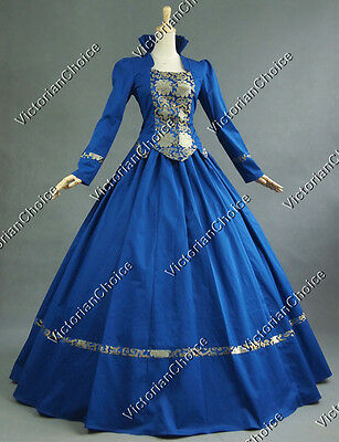Victorian Gothic Brocade Gown Period Dress Prom Reenactment Clothing Punk 111 M