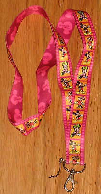 DISNEY MICKEY & MINNIE MOUSE TRADING PIN NECK LANYARD