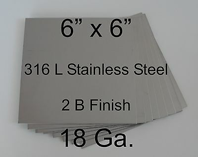 """12 pcs 316L 18 Ga 6"""" x 6"""" Stainless Steel Plate for HHO cell"""