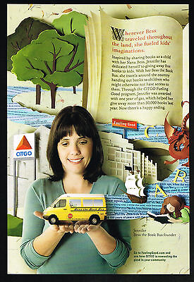 2011 Citgo Fuel Jennifer Bess The Book Bus Founder Books For Children Print Ad
