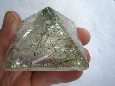 68g Natural green tourmaline crystal pyramid