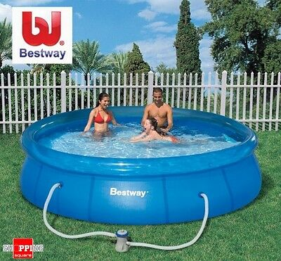 BESTWAY 12 FT Inflatable Outdoor Swimming Pool Filter Pump 366 x 76cm