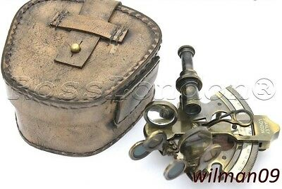 Brass Ship Sextant - Brass Marine Sextant - Kelvin & Hughes London 1917 with Box