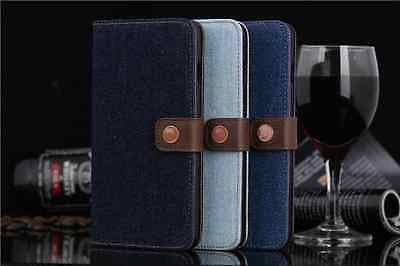 NEW GENUINE JEANS WALLET FLIP CASE COVER FOR APPLE iPhone 6 6S 6 PLUS 6S PLUS
