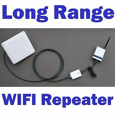 1 Mile Range! Outdoor WIFI Range Extender Repeater Antenna Router Combo 2.4 GHz