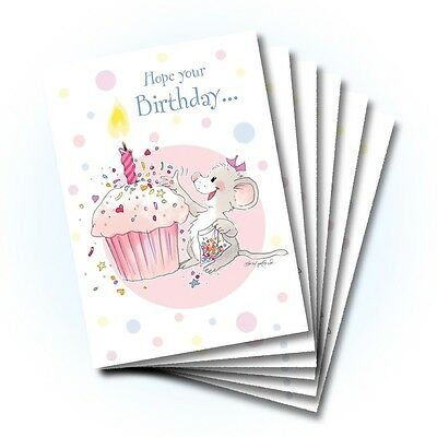 Suzy's Zoo Happy Birthday Card 6-pack 10301