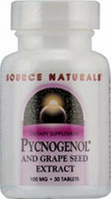 'SOURCE NATURALS Pycnogenol Grape Seed Extract 100 30T