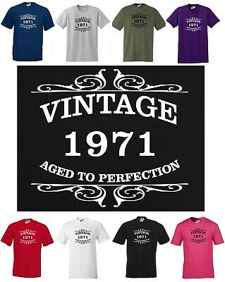 Vintage 1969 - Aged to Perfection 50th Birthday T-shirt!, Small to 5XL