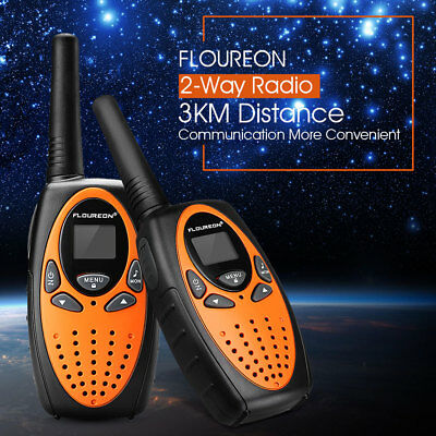 8 Channel Twin Walkie Talkies UHF400-470MHZ 2-Way Radio 3KM Range Interphone UK