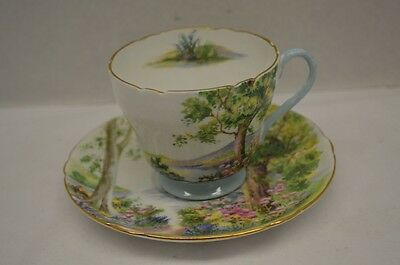 "Shelley Bone China ""Woodland"" Cup and Saucer"