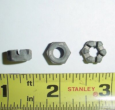 "2 ea 1/4-28 x .223"" Thick Aircraft Castle Nuts"