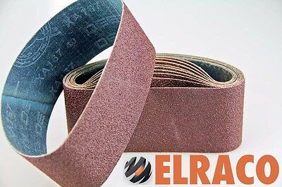 "Ten Sanding Belts 100x610mm (4x24"") 80grit. Industrial cloth backed. ABRB424080"