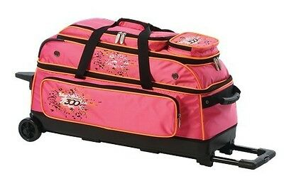 Columbia Team C300 Pink/Orange 3 Ball Roller Bowling Bag