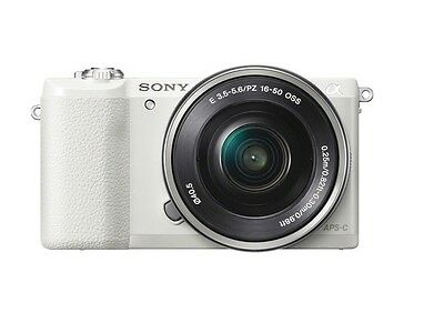 Sony A5100 Wi-Fi Mirroless DGT Camera 16-50mm Lens ILCE-5100L White Fedex to USA