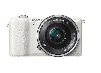 Sony Alpha a5100 24.3 MP Digital Camera Kit w/ E PZ OSS 16-50mm Lens - White