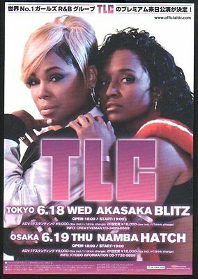 2014 TLC JAPAN concert tour flyer / handbill / great photo / japanese