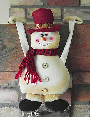 Hanging SNOWMAN Novelty Christmas Decoration -  Fun & Quirky - Fabric