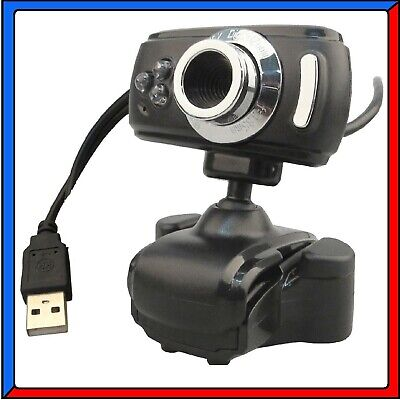 Webcam Hd 50 Megapixel 3 Led  Microfono Usb 2.0 Web Cam Camera Skype Omegle Pc