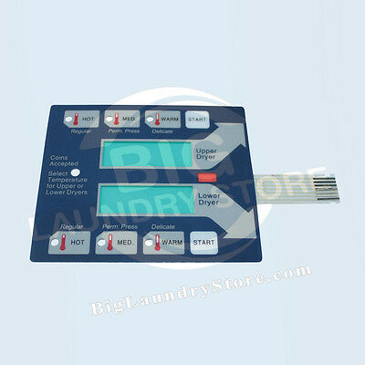 NEW Dexter Blue Touch Pad for Stack Dryers (Bottom):  9801-059-002