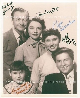 FATHER KNOWS BEST CAST SIGNED AUTOGRAPHED 8x10 RP PHOTO ROBERT YOUNG