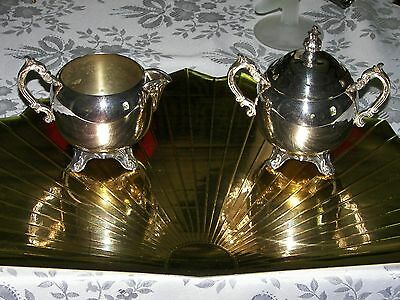 F B ROGERS SILVER CO WEIGHTY SILVER PLATED SUGAR & CREAMER 1883 trade mark