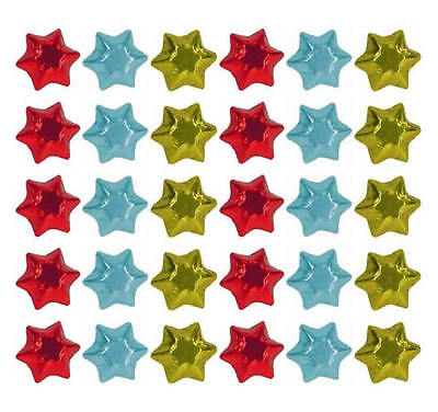 100 x CIRCUS COLOURS CHOCOLATE STARS - KIDS BIRTHDAY PARTIES FAVOURS CANDY BAR