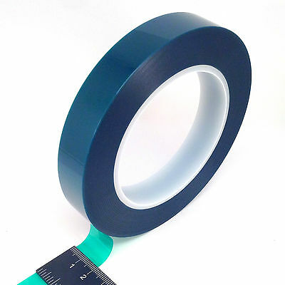 "3/4"" X 72 Yards HIGH TEMP Green Polyester Masking Heat Tape Powder Coating Paint"
