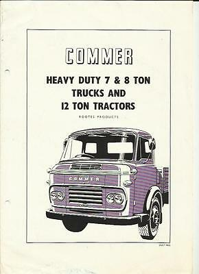 Rootes Commer 7 & 8 Ton Trucks & 12 Ton Tractors Lorry Sales Brochure July 1963