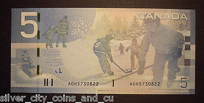 Canada BC-67aA $5 Single Note Replacement AOH5730822 -  GemUnc