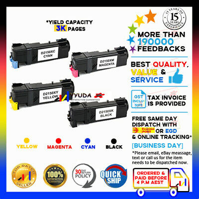 4 Toner Cartridge for Dell 2150 2155 2150cn 2150cdn 2155cn 2155cdn Laser Printer