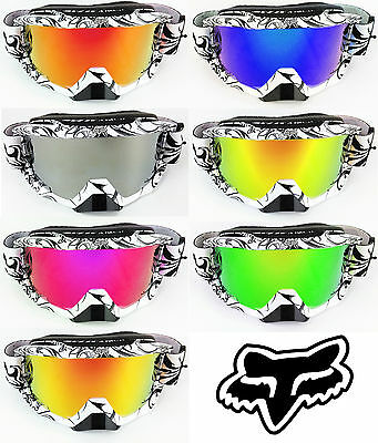 Goggle-Shop Fox Espace Aérien Motocross Mx Lunette De Protection Chrome