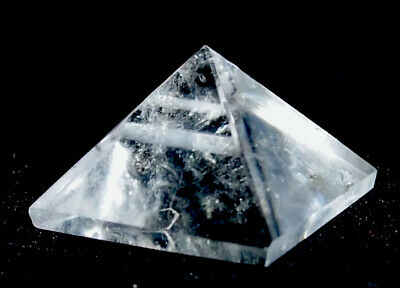 REIKI ENERGY CHARGED BRAZILIAN CLEAR QUARTZ PYRAMID NATURAL CRYSTAL (small)