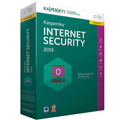 Kaspersky Labs Internet Security 2016 Update 3 PCs/1Jahr Windows7/8/10 Antivirus
