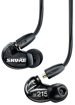 Shure SE215-K Sound Isolating Earphones in Black NEW